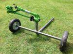 Agricultural irrigation sprinkler with wheeled cart