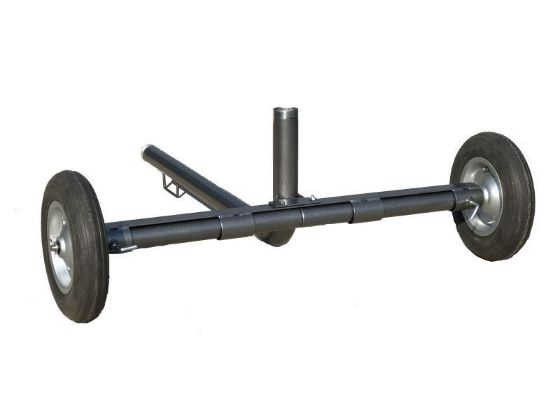 "DuCaR 2"" wheeled cart for agricultural irrigation sprinklers"
