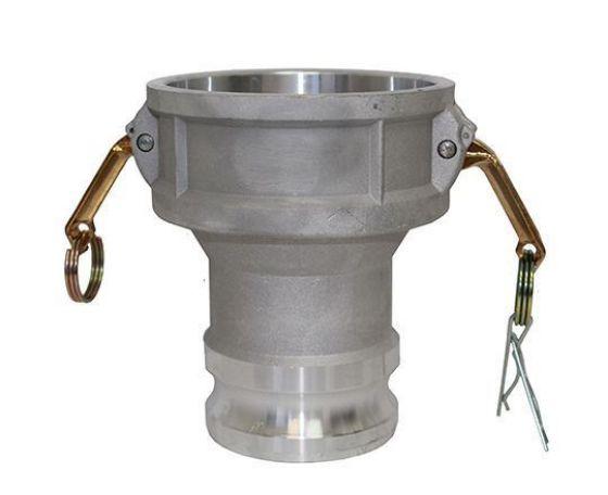 Aluminum Camlock Type DA Coupler X Male Adapter Reducer